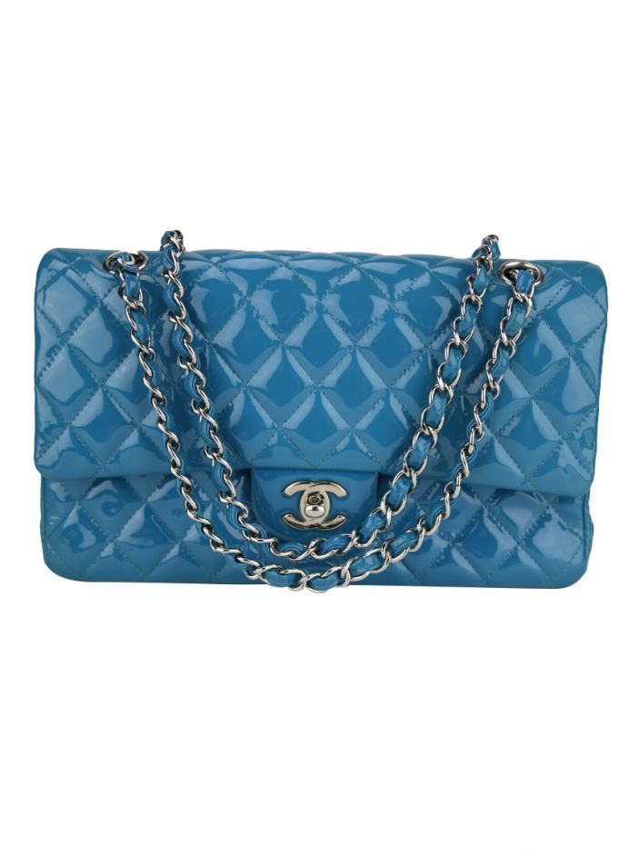 72d66c8781 Bolsa Chanel Double Flap Azul