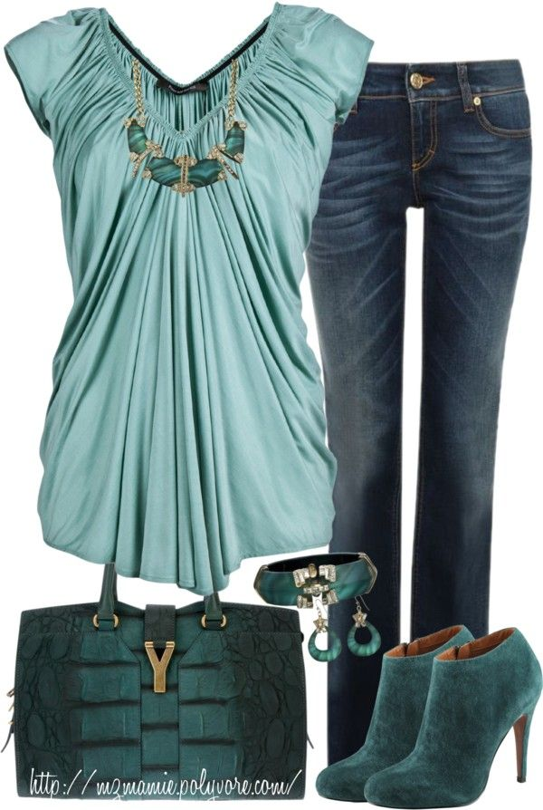 Like a fall dark seafoam green? really pretty in Satin and suede, by mzmamie on Polyvore