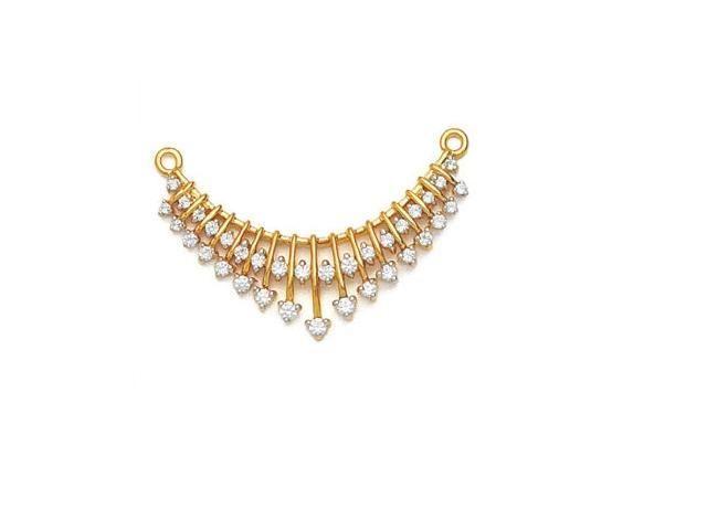 Tanishq Diamond Mangalsutra | About Avsar Gold Diamond Tanmaniya 18 KT, 0.70 Ct - AVN013