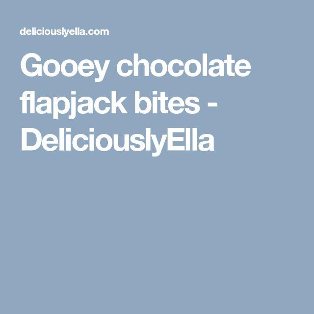 Gooey chocolate flapjack bites - DeliciouslyElla