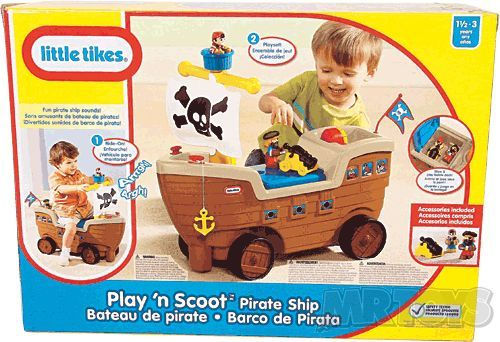 Little Tikes Play N Scoot Pirate Ship -
