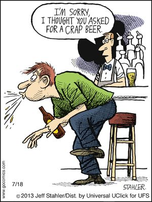 Hey, that's not craft beer! | Moderately Confused on GoComics.com #humor #comics