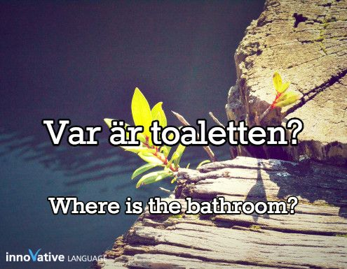 Var är toaletten? is Where is the bathroom? in Swedish. Click here to get FREE audio by a native speaker: http://www.swedishpod101.com/swedish-vocabulary-lists/top-15-questions-you-should-know-for-conversations #swedish #learnswedish #swedishpod101 #sweden
