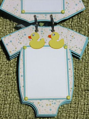The Avid Scrapper: Onesie Baby Boy Brag Book / Scrapbook Album