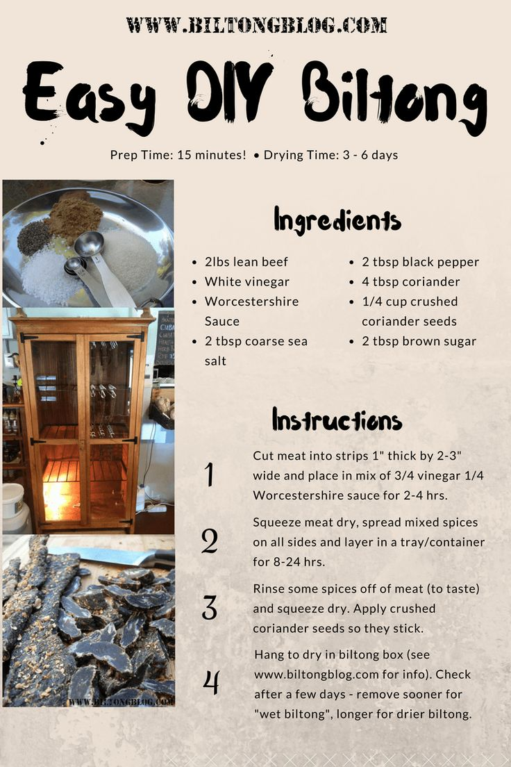 Biltong Recipe Info Graphic