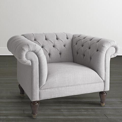 Chesterfield Chair and a Half by Bassett Furniture