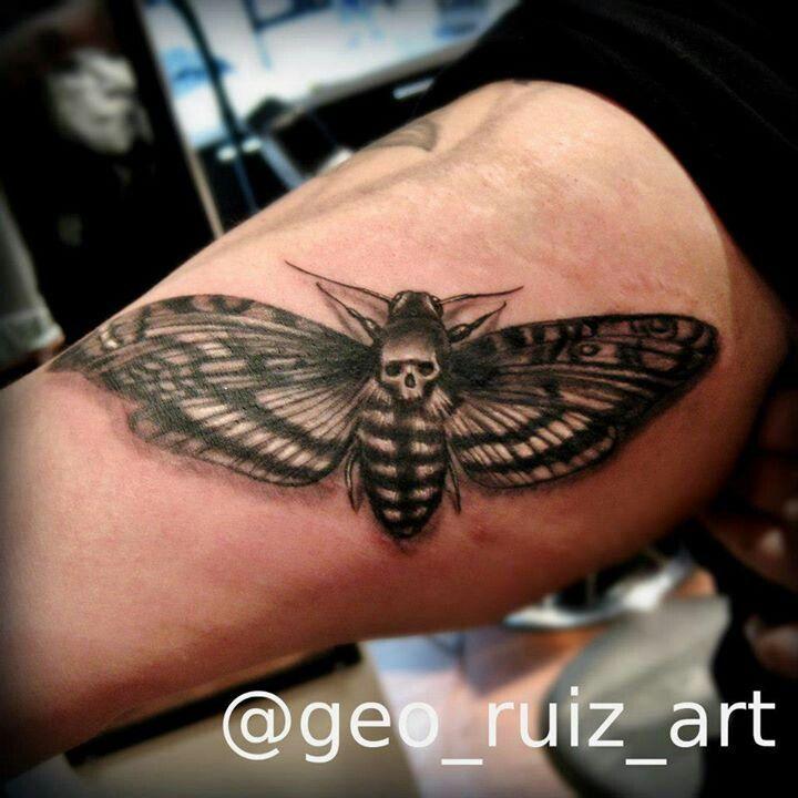 Death moth tattoo by Geo Ruiz, Chicago il | Chicago State ...