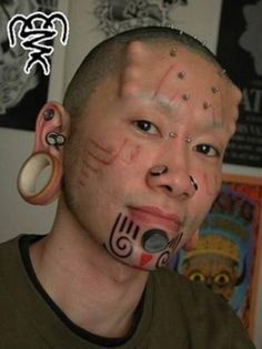 ... Too much? on Pinterest | Piercings Face tattoos and Plastic surgery