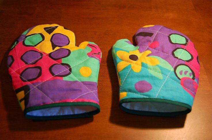 ikat bag: How to Make Kids' Oven Mitts