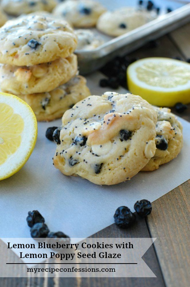 Lemon Blueberry Cookies with Lemon Poppy Seed Glaze-I love to make cookies, because they are an easy dessert to make. These cookies are one of my favorites! The lemon and blueberries are the perfect combination and the lemon poppy seed glaze takes these yummy treats to a whole new level! Trust me, you need to try this recipe!
