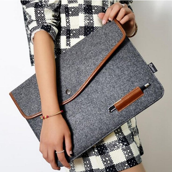 "11 "" 12 "" 13 "" 15 "" wool felt envelope notebook laptop Sleeve bag for Macbook laptop inner hasp bag-in Laptop Bags & Cases from Computer & Office on Aliexpress.com 