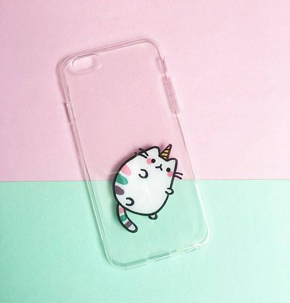 Funda Carcasa iPhone PLUS 8 Animal Gato Caticorn Unicorn Fun
