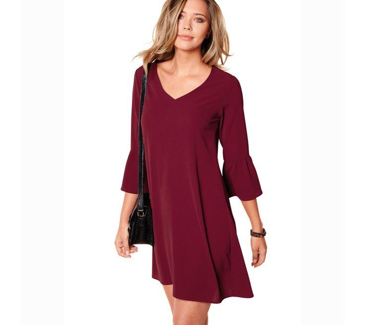 Jednobarevné šaty se 3/4 rukávy | modino.cz  #modino_cz #modino_style #style #fashion #newseason #autumn #fall