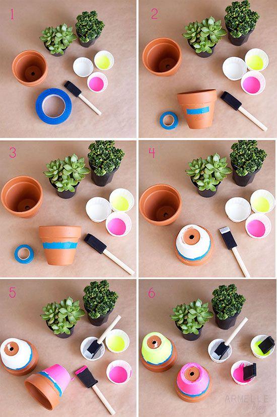 színes cserepesek itt-ott üzenettel_HOGYAN/ colourful potted plants around with messages_HOW TO