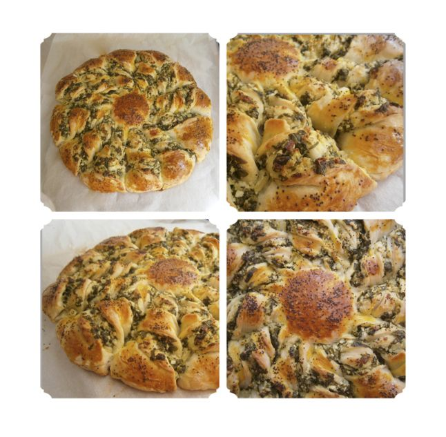 Placinta stea cu spanac si branza  #pie #spinach #cheese