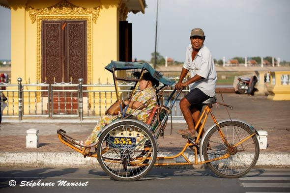 Cycle-rickshaw, Cambodia