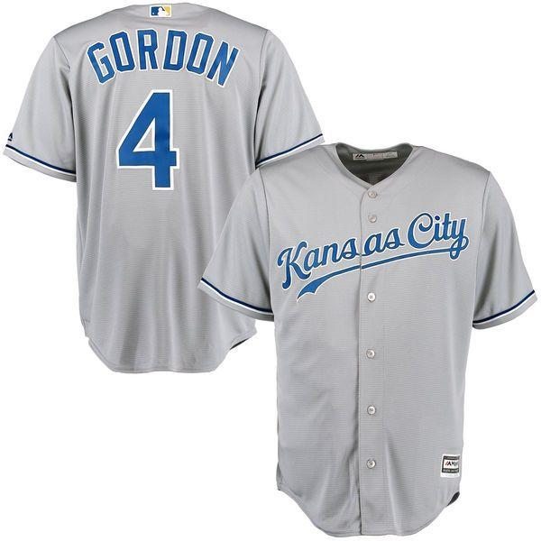 Alex Gordon Kansas City Royals Majestic Cool Base Player Jersey - Gray - $119.99