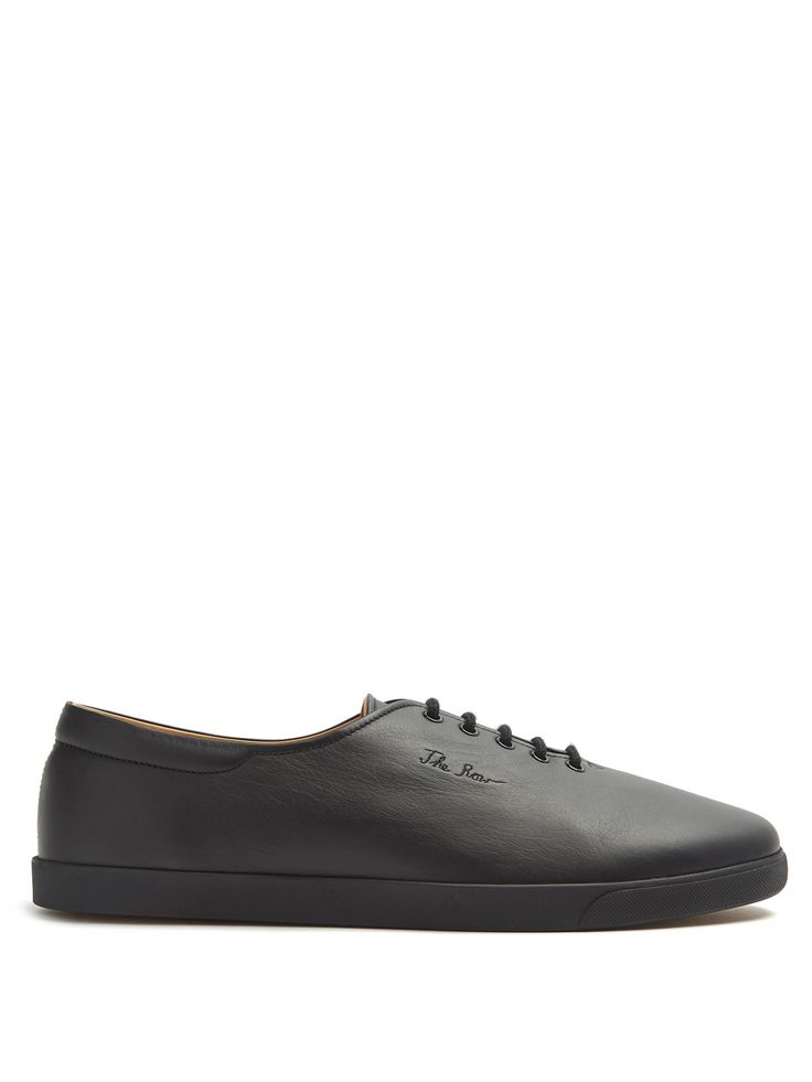 Click here to buy The Row Dean low-top leather trainers at  MATCHESFASHION.COM