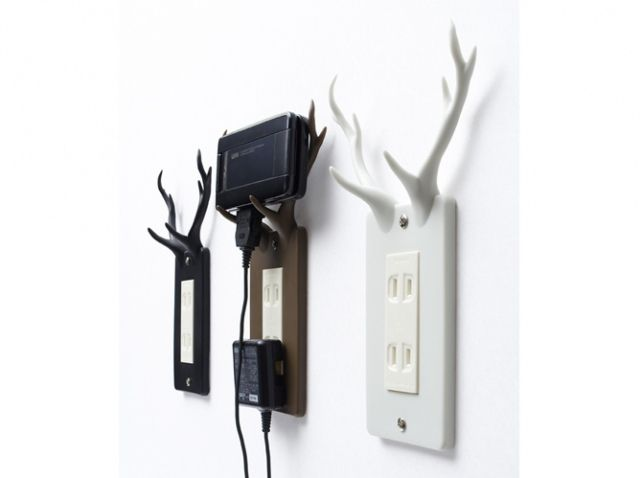 habillez vos prises lectriques elle d coration cerf. Black Bedroom Furniture Sets. Home Design Ideas