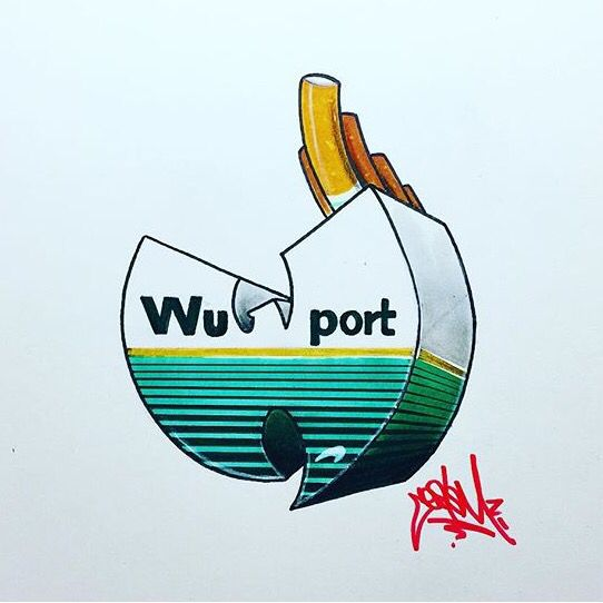 Wu-Tang Clan meets Newports parody art