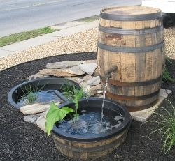 Whiskey Barrel Water Garden Wonder If It Could Be