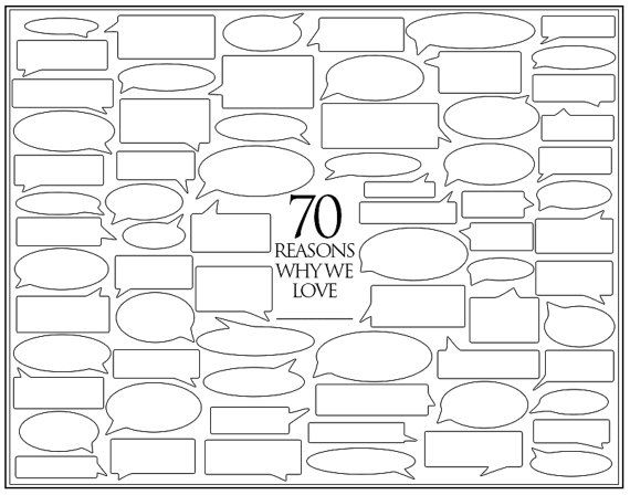 Personalized Birthday Present 70 Reasons We Love You