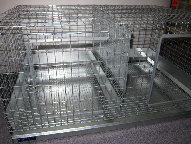 Double rabbit cage built by Quality Cage companly and sold by Raising-Rabbits