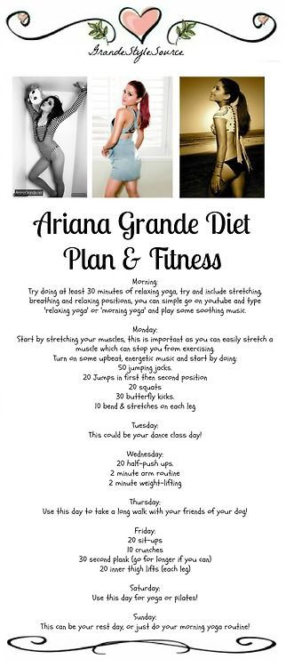 ariana grande diet plan - Google Search | Fitness Begins ...