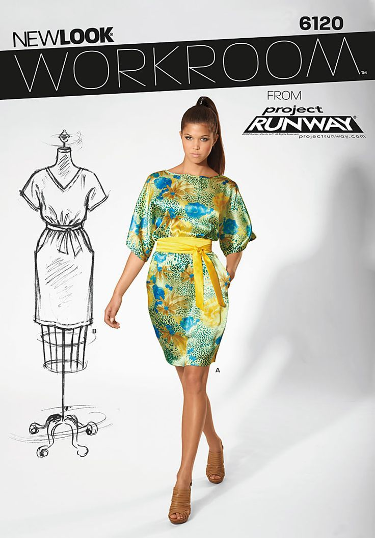 newlook patterns project runway kimono - Buscar con Google: