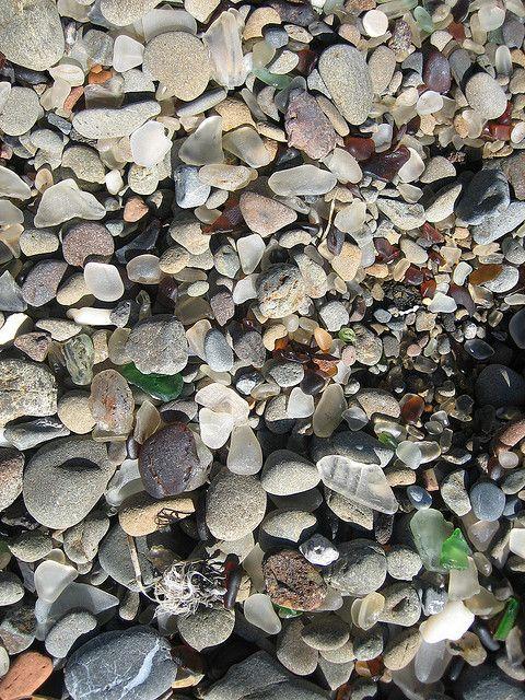 Sea glass beach in Kauai