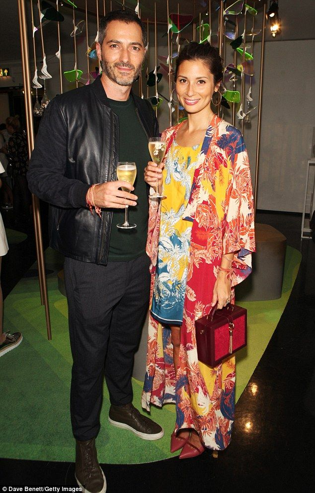 Nick Hopper and Jasmine Hemsley sipped glasses of champagne in the bohemian garden at Mathhew Williamson Blakes Hotel
