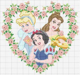 Disney princess cross stitch patterns - printable