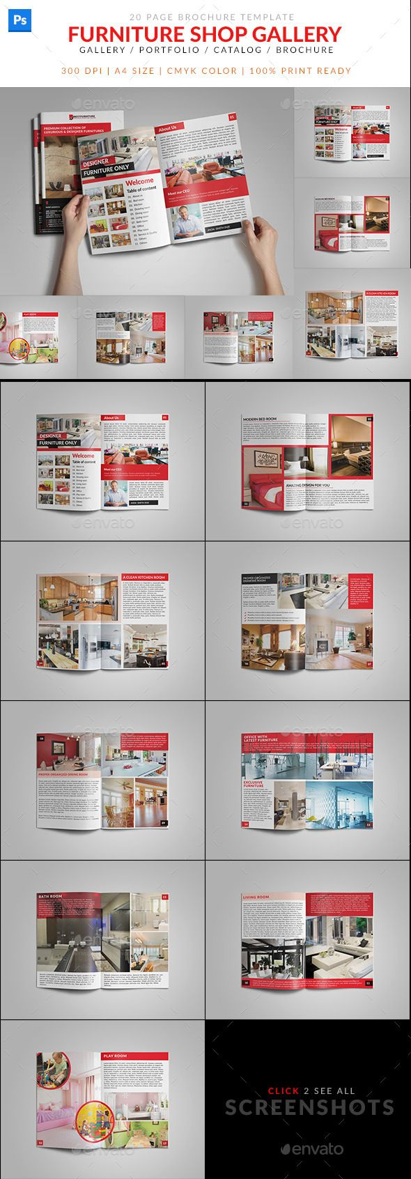 Furniture Shop Product Catalog Brochure | Shops, Furniture ...