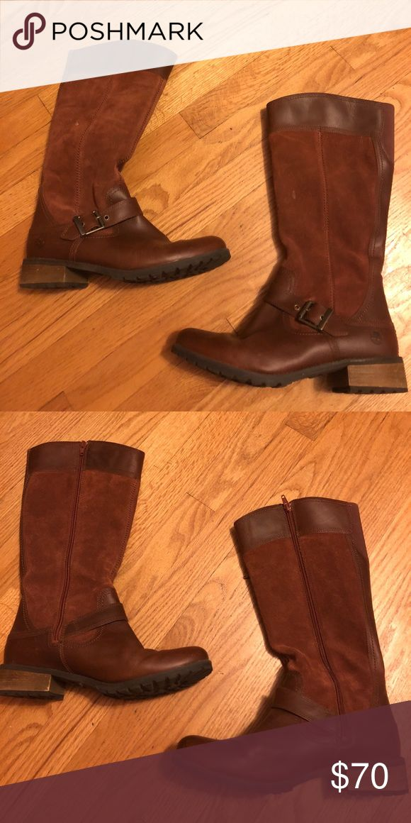 Timberland waterproof boots This is a cognac pair of Timberland boots in like new condition. Timberland Shoes Winter & Rain Boots