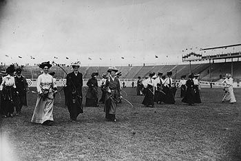 Female archery contestants from the 1908 London Olympics