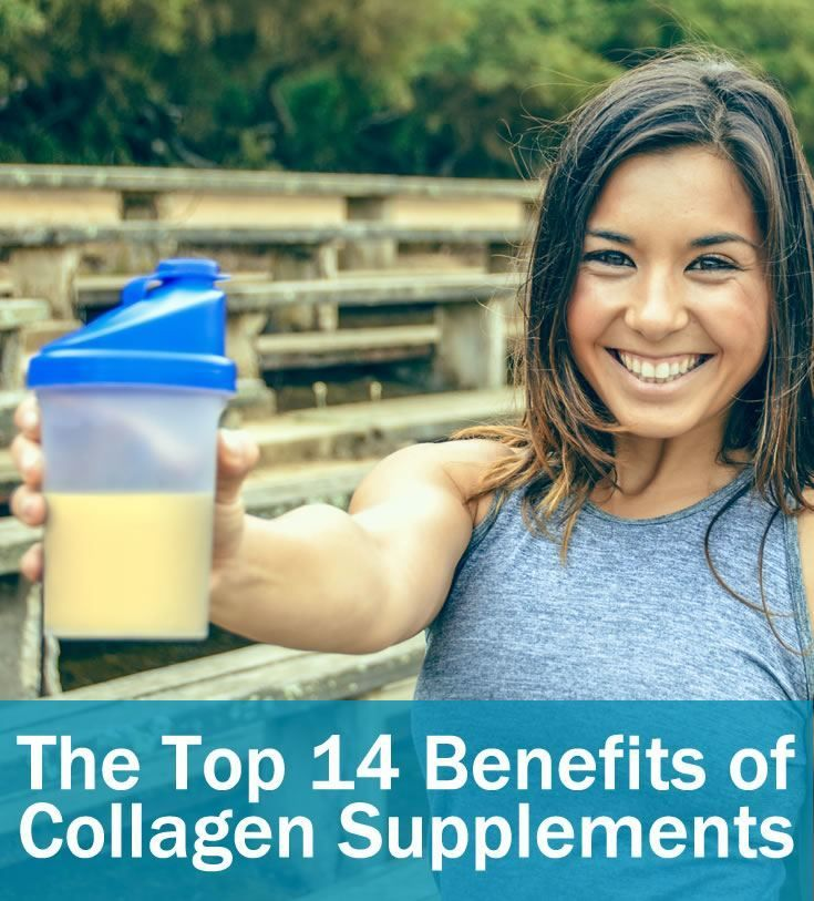 The Top 14 Benefits of Collagen   #7 will bring benefits to your entire body. Collagen is the foundation of your body's structure and is therefor one of the most important supplements you can take to maintain your health. Discover the top 14 benefits of collagen supplements.