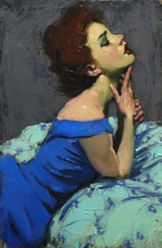Hand to Chin by Malcolm Liepke. http://www.artbrokerage.com/Malcolm-Liepke His work never ceases to amaze me!