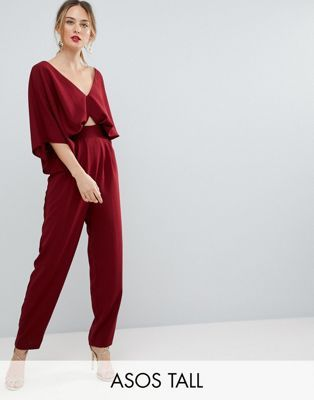 fba36987fbc0 ASOS TALL Jumpsuit with Kimono Sleeve and Peg Leg