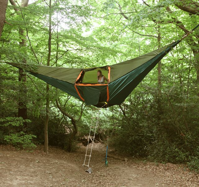 Suspended Camping Tent by Tentsile. I am not a fan of camping but this looks like fun!