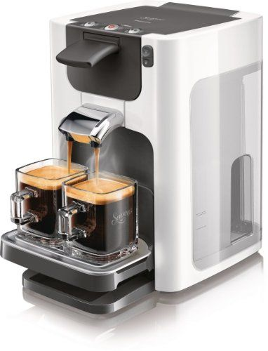 Philips HD7864/11 Machine à dosettes SENSEO Quadrante Blanc Titane: 1 ou 2 tasses de café en moins d'une minute Repose-tasses ajustable…