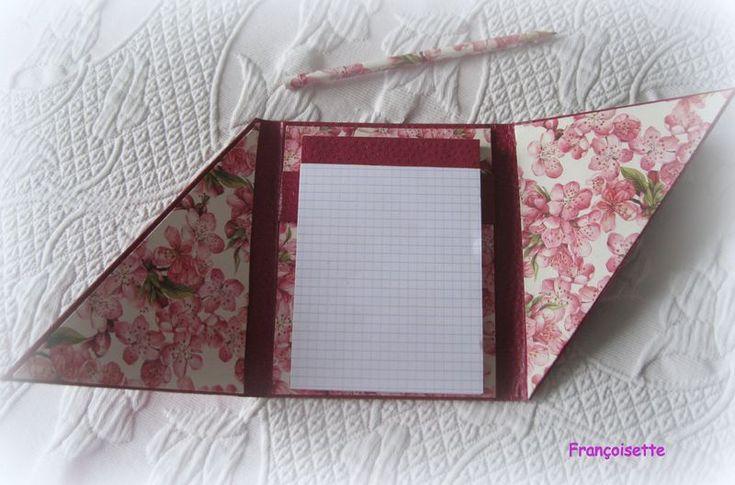 Tuto du carnet ouvert en diagonale