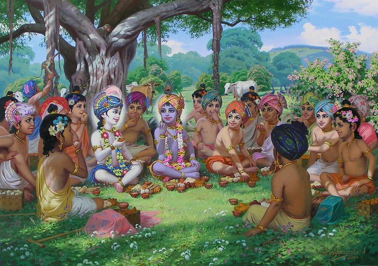 cowherd-boys-are-taking-prasadam-with-krishna-novikov-viacheslav.jpg (900×635)