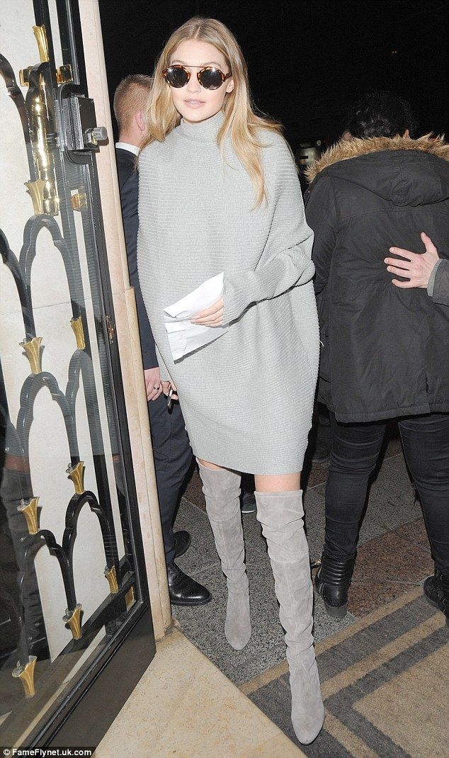 Wrapped up! Zayn Malik's girlfriend Gigi wore muted toned for her outing, going braless in...