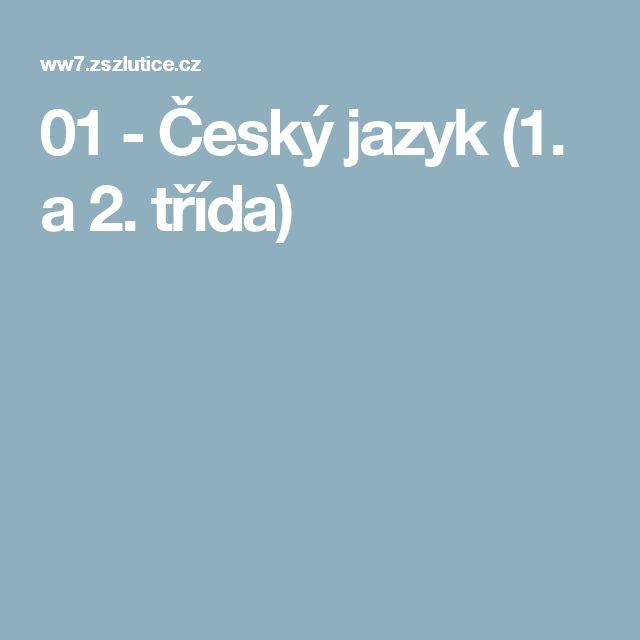 01 - Český jazyk (1. a 2. třída)