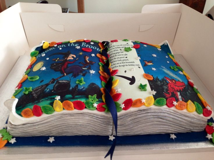 Room On The Broom Book Cake by Jodalicious Cupcakes