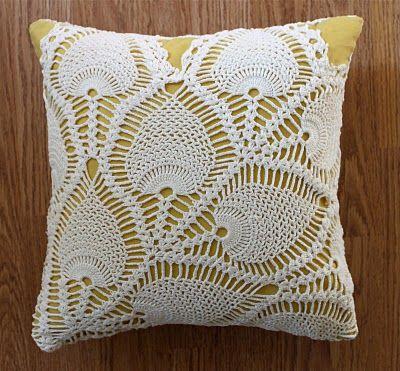 Las Teje y Maneje: doilies cojin. Kissen häckeln.  Pillow cover crochet