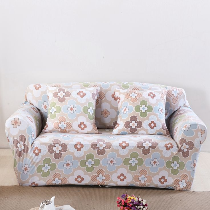 18 46USD Flowers Print Universal Elastic Sofa Cover,pastoral Stretch Sofa  Cover For Living