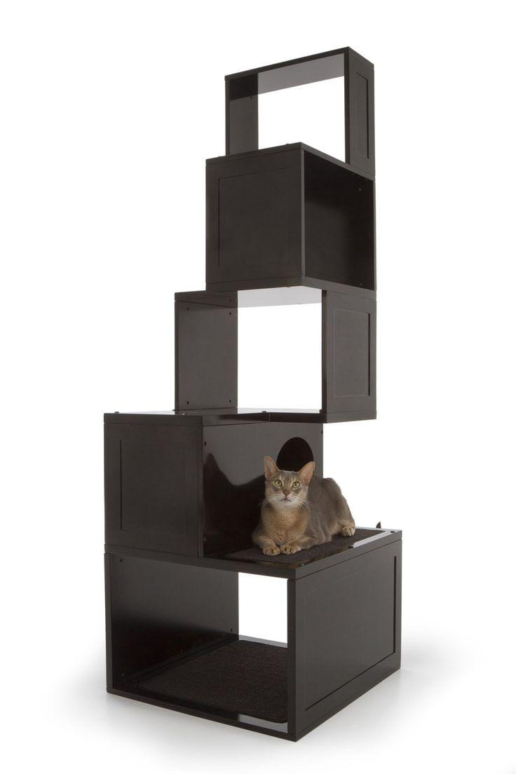 die besten  modern cat supplies ideen auf pinterest  - amazoncom  the sebastian modern cat tree in black  modern cat tower