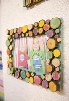 Bilderrahmen kreaitv mit Holz gestaltet
