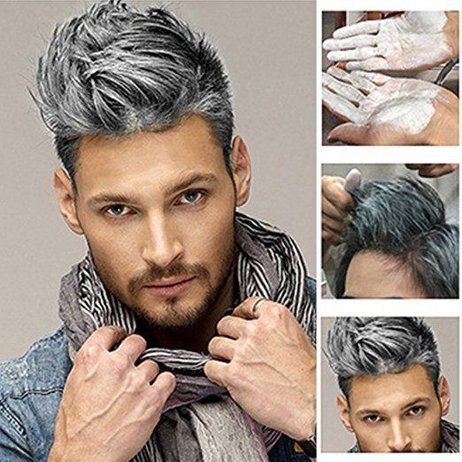 Elera Temporary Hair Color Wax Professional Hair Dye for Men Women, 4 Colors (gray): Beauty